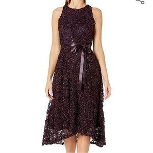 NWT Tahari Embellished Soutache Fit & Flare Dress